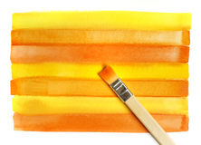 Bright watercolor background and brush Royalty Free Stock Photography