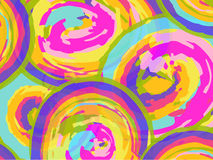 Bright watercolor background with circles. Vector Royalty Free Stock Photos