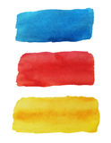 Bright watercolor banners Stock Photo