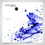 Bright watercolor blue background. Vector. Blue watercolor splashes on white background. Vector Royalty Free Illustration