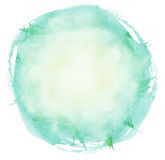 Bright watercolor brush strokes circle Royalty Free Stock Image