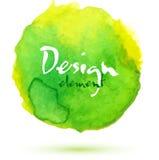 Bright watercolor green vector circle Royalty Free Stock Image