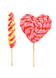 Bright watercolor lollipops stock photography