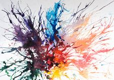 Bright watercolor painhting Royalty Free Stock Photography