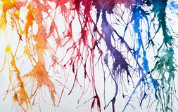 Bright watercolor painhting. Bright watercolor abstract art painting Stock Photography