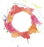 Bright watercolor splashes Royalty Free Stock Photo