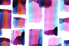 Bright watercolor splotches Stock Photography