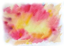 Bright watercolor spot. Abstract background Royalty Free Stock Photo
