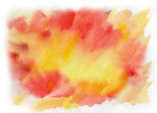 Bright watercolor spot. Abstract background. Watercolor spot on watercolor paper. Abstract background Stock Images