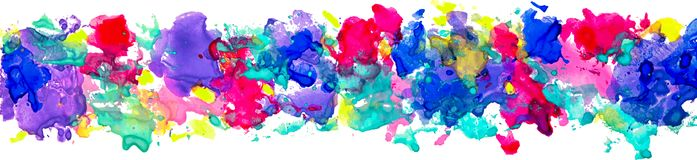 Bright watercolor stains for decoration Royalty Free Stock Images
