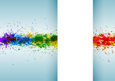 Bright watercolor stains. Paint splashes background poster Stock Image