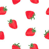 Bright watercolor strawberry seamless pattern Stock Photos