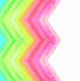 Bright watercolor zigzag pattern on white background Stock Images