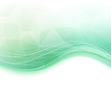 Bright wave crystal green background Stock Photography