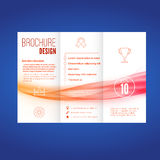 Bright wave pattern abstract brochure layout Royalty Free Stock Photography