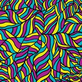 Bright wave pattern, seamless background. Vector illustration Stock Images