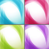 Bright wavy arrows backgrounds collection. Vector illustration Stock Photos