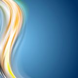 Bright wavy background. Colorful abstract vector wave design royalty free illustration