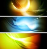 Bright wavy background. Gradient mesh Royalty Free Stock Image