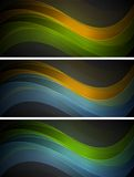 Bright wavy banners Royalty Free Stock Photo