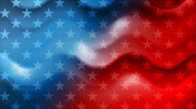 Bright wavy Independence Day background Royalty Free Stock Image