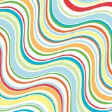 Bright wavy lines. Background illustration in summer colors Stock Photos
