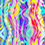Bright wavy  seamless pattern with squares in ethnic style. Stock Photos