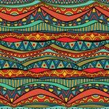 Bright Wavy Tribal Seamless Ornament Royalty Free Stock Photo