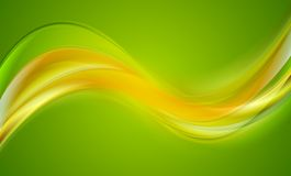 Bright wavy vector background Stock Image