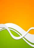 Bright wavy vector background Royalty Free Stock Image