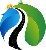 Bright way to aim logo. Illustration art of a bright way to aim logo with isolated background Royalty Free Stock Image