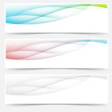 Bright web headers footers wave swoosh Stock Photography