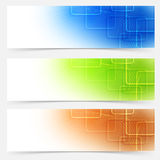 Bright web headers templates colorful collection Royalty Free Stock Photos