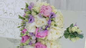 Bright wedding bouquet stock footage