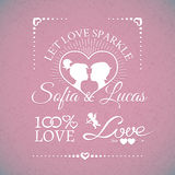Bright wedding or Valentines Day design elements Royalty Free Stock Images
