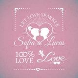 Bright wedding or Valentines Day design elements stock illustration