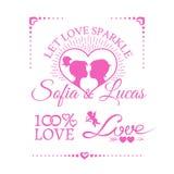 Bright wedding or Valentines Day design elements Stock Photos