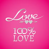 Bright wedding or Valentines Day design elements Royalty Free Stock Photography