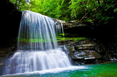 Bright West Virginia Mountain Waterfall stock photography