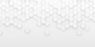 Free Bright White Abstract Hexagon Wallpaper Or Background Stock Photography - 160588602
