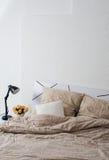 Bright white bedroom Royalty Free Stock Photos