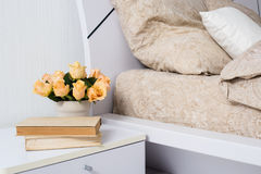 Bright white bedroom Stock Photography