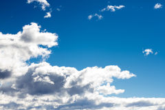 Bright white clouds Stock Photography