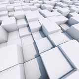 Bright white 3D cubes business background. 3D rendering Royalty Free Stock Image