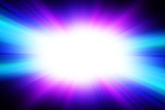 Bright white flash on a blue background. Royalty Free Stock Photos
