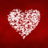 Bright white hearts background Royalty Free Stock Photography