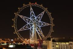 Bright White Melbourne Star in pitch darkness Stock Photography