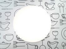 Bright white plate Stock Images