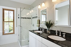 Bright white remodel bathroom Stock Photography