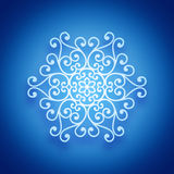 Bright white snowflake Stock Image